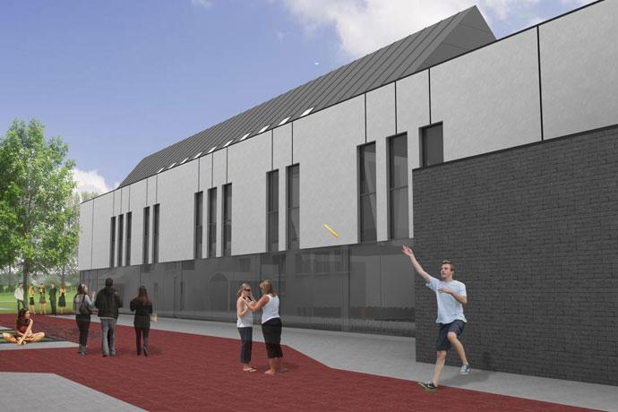 De gemeente Lebbeke bouwt een nieuw onderkomen voor zijn muziekacademie.