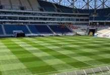 Het Dendermondse bedrijf GrassMaster levert grasmatten voor het WK Voetbal in Rusland.