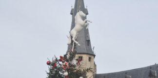 kerstboom op de grote markt in dendermonde